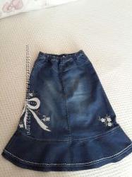 Юбка джинс расшитая Monsoon