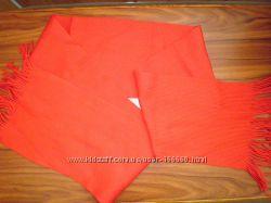 Красный и белый шарф - распродажа