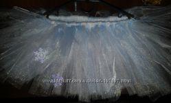 юбка из фатина снежинка девочке 3-5 лет