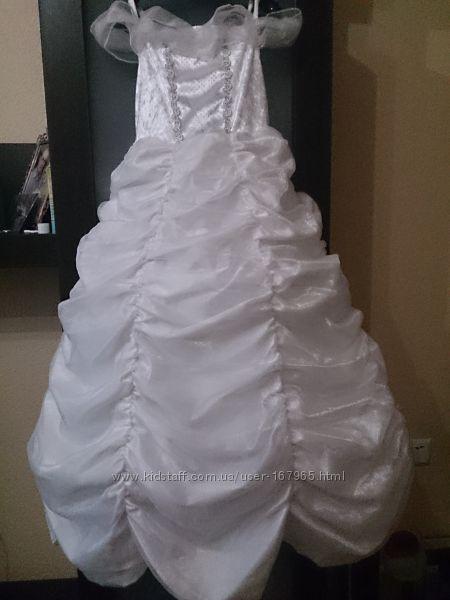 Новогодние костюмы - платья  Disney р. 104, 116 Зима, Снежинка