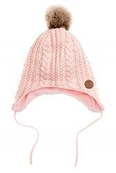 Новые шапки Gymboree H&M на флисе на завязках лисенок котенок ромашки 5 6 7
