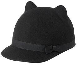 Новая кепка шапка шляпка Gymboree шерсть котик котенок 5 6 7 8 10 12 лет