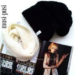 Вязаные модные шапки