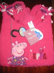 Набор - розовая шапочка с варежками со свинкой PEPPA