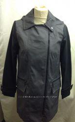 Деми пальто - плащ парка с кожаными рукавами от Atmosphere