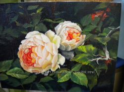 Картины триптих Розовый сад Лоренц США