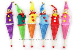 Живые клоуны с колокольчиками. Бесплатная доставка. Под заказ.