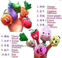 Комплект игрушек Овощи и фрукты. 10шт. Беспл. доставка.