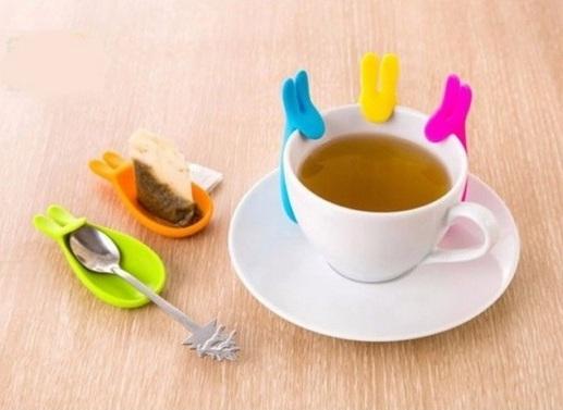 Держатель-блюдце чайных пакетиков, горячей посуды Кролик.