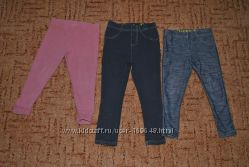 фирменные джинсовые и хб лосины 2-4г