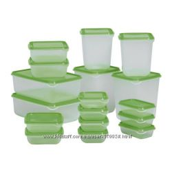 Набор контейнеров из 34 предметов для хранениязаморозки пищи. Ikea Швеция