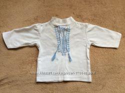 Вышиванка и полосатая кофта для малыша