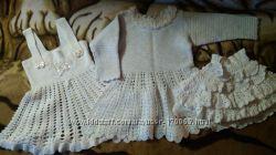 Платье, сарафан и юбочка, ручная работа, недорого