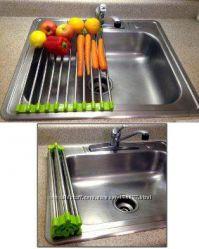 Складная сушилка сушка полка на раковину для посуды, овощей, фруктов