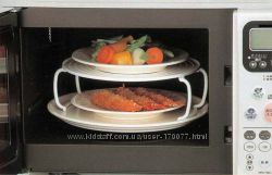 Плюстарелка - подставка для разогрева двух тарелок в микроволновке СВЧ