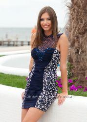 Праздничное нарядное коктейльное платье с болеро