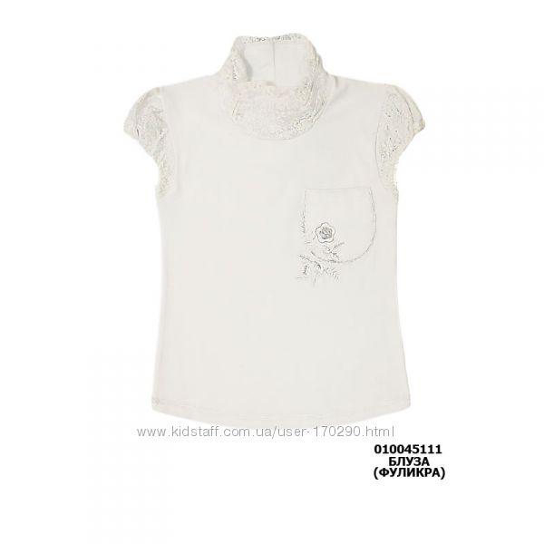 Школьная блузка с гипюровыми вставками.