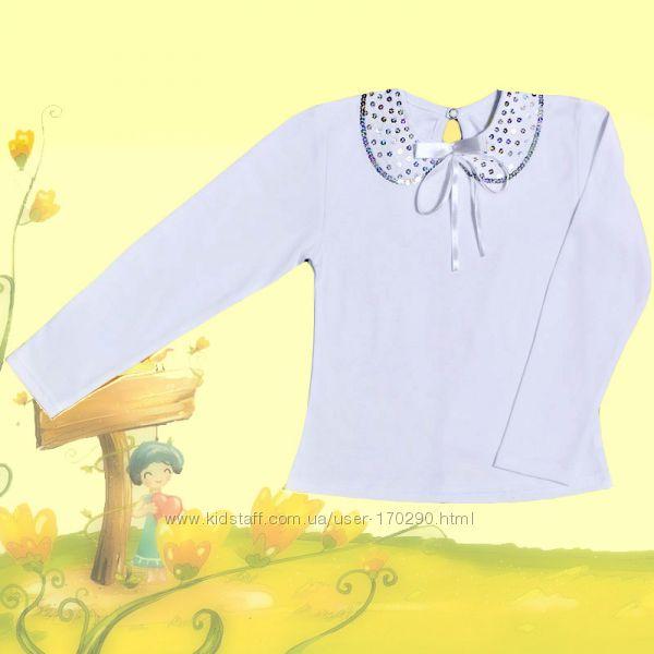Школьная блузка с паетками.