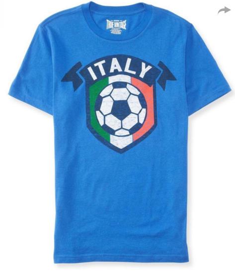 для любителей футбола футболка сборной Италии