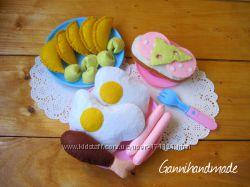 Еда из фетра для ваших малышей и их кукол