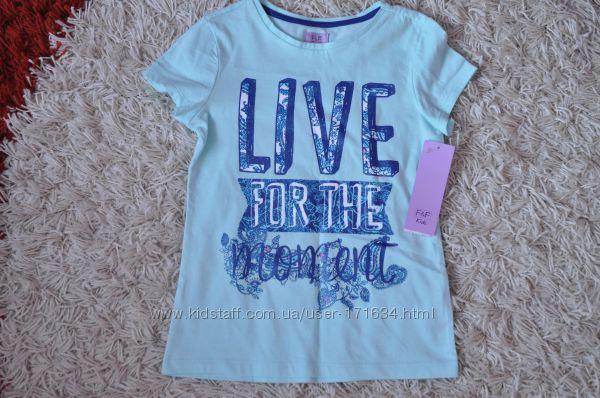 Расспродажа- футболочек и шортиков на девочек от фирмы F&F