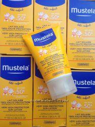 Мустела солнцезащитное молочко с рождения, фильтр 50,