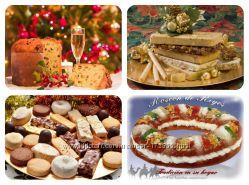 Рождественские сладости адвенты, туррон, панеттоне, конфеты, марципан