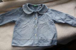 Джинсовая рубашка Benetton