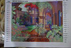 Картина для вышивки бисером Испанский двор с подобранными номерами и весом