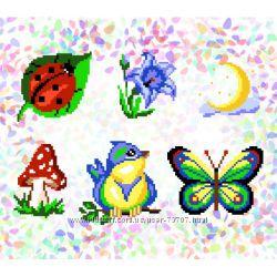 Водорастворимый флизелин с рисунком Confetti