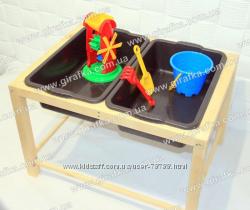 Песочница-стол для воды и песка деревянная