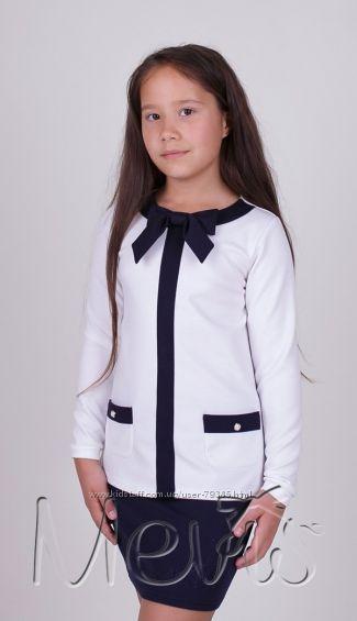 128 Блуза школьная нарядная  1610 Mevis