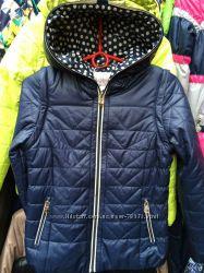 Стеганая курточка со съемным рукавом