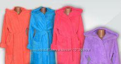 Халаты женские тепленькие - пушистики велсофт