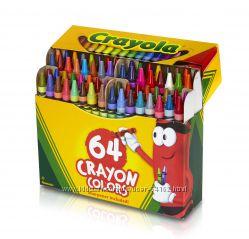 Восковые карандаши Crayola 64 шт