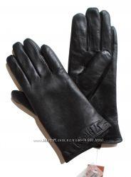 Размеры 6, 5 до 8 Перчатки из кожи козленка с декор краем на подкладке