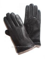 Размеры 8, 5 до 10, 5 Мужские перчатки из оленьей кожи с тремя прострочками