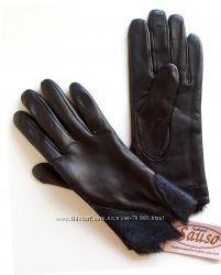 6, 5 7 7, 5р Перчатки из лайковой кожи на подкладке из вязки Финляндия