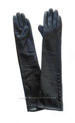 Размер 6, 5 до 8, 5 Длинные перчатки из кожи козленка на утеплителе, Румыни