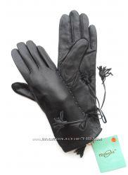 Размеры 7, 5 и 8 Удлиненные перчатки из кожи на утеплителе