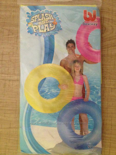 Bestway Плавательный круг желтый от 10 лет, а также круги 3-6, 6-10 лет