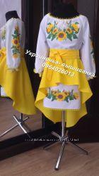 С нарядные украинские платья , вышиванки, юбки с вышивкой