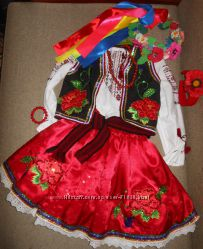 Роскошные украинские костюмы р. 122 - 162см на 6 -14 лет Прокат Киев
