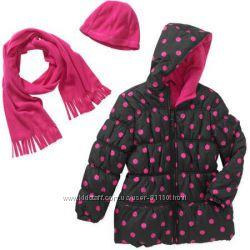 Куртка Pink Platinum в наборе с шапкой и шарфом размер 110-115