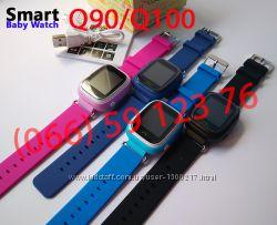 Q100 они же Q90. Оригинальные Детские часы Smart Baby Watch от производител