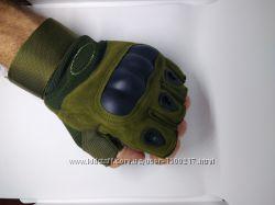 Тактические перчатки Oakley с ударными вставками, антискользящими нашивками