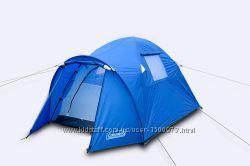 Палатка туристическая двухместная батут сеткой