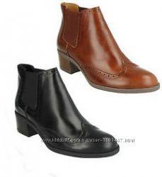 Ботинки Челси CLARKS оригинал. Натуральная кожа. 34-42р