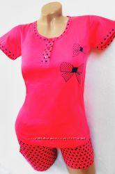 Пижама женская трикотажная футболка и шорты