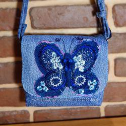 Джинсовая сумочка Бабочка